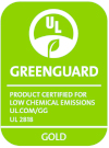 This product is GreenGuard Gold Certified, both for its fabric and its finish. Click here for more information.
