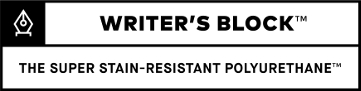 Writer's Block Ink Resistant Technology Logo